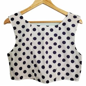 URBAN OUTFITTERS POLKA DOT CROP TOP - LARGE